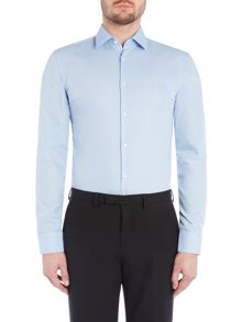 Slim Fit Business Shirt with Contrast Trim
