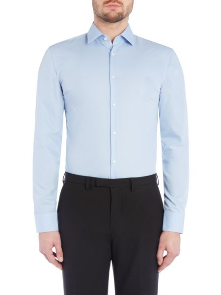 Hugo Slim Fit Business Shirt with Contrast Trim