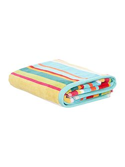 Bright stripe velour hand towel