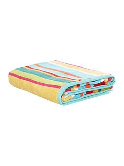 Bright stripe velour bath towel