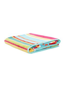 Bright stripe velour bath sheet