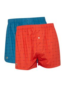 Lacoste 2 pack of pattern boxers