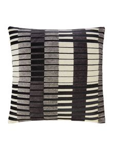 Block stripe cushion, black