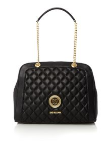Love Moschino Superquilt black shoulder dome bag