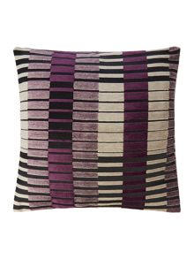 Linea Block stripe cushion, purple