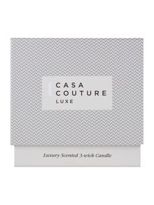 Casa Couture Luxe Scented 3 Wick Candle