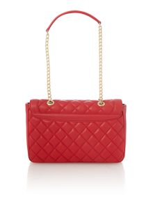Love Moschino Superquilt red flapover shoulder bag