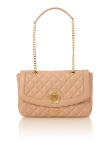 Love Moschino Superquilt pink flapover shoulder bag