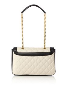 Superquilt monochrome flapover shoulder bag