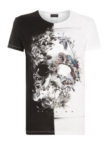 Skull Collage Graphic T Shirt