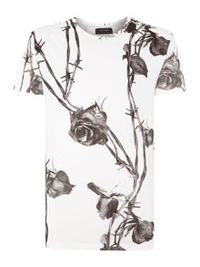All Over Rose Graphic T Shirt
