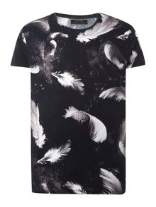 All Over Feather Graphic T Shirt