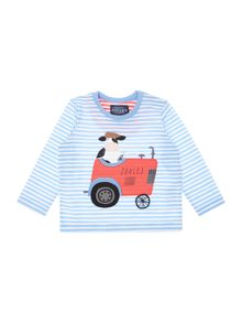 Boys Cow on a tractor applique tee