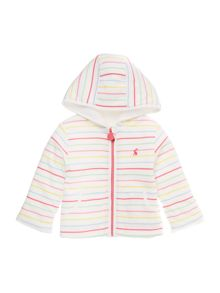 Joules Girls Hooded reversible sweatshirt fleece