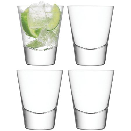 LSA Bar mixer clear tumbler 225ml set of 4