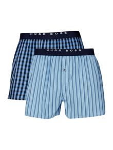 Hugo Boss 2 pack stripe and check trunk