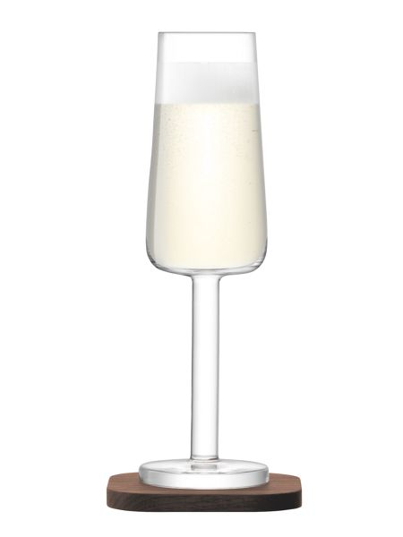 LSA City Bar clear champagne flute 200ml set of 2