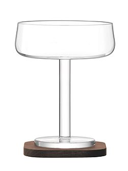 City Bar clear champagne saucer 250ml