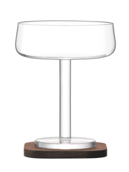 LSA City Bar clear champagne saucer 250ml