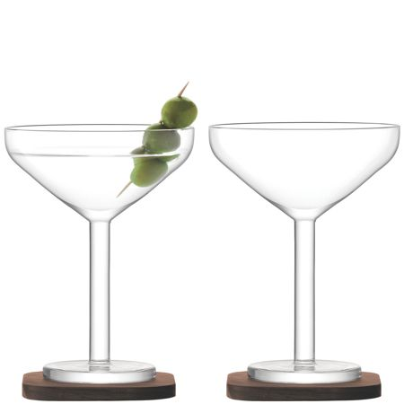 LSA City Bar clear cocktail glass 250ml set of 2