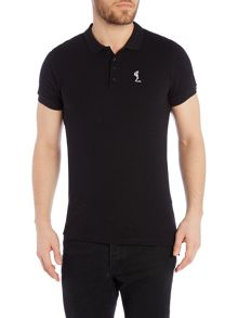 Regular Fit Logo Pique Polo
