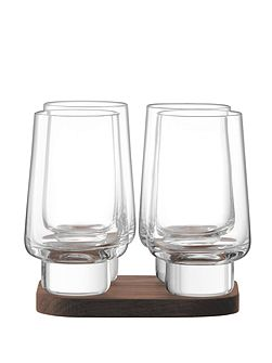 LSA City Bar clear vodka glass 70ml set