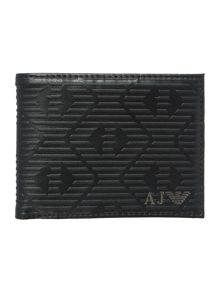 Armani all over embossed eagle billfold wallet