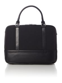 Armani contrast leather nylon document bag