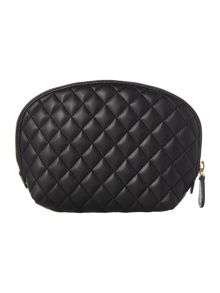Love Moschino Quilt black cosmetic bag