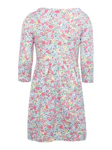 Joules Girls Ditsy print jersey dress with corsage