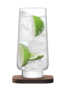 LSA City Bar clear long drink glass 400ml