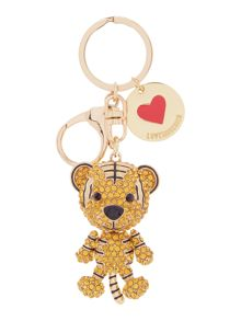 Love Moschino Gold tiger keyring