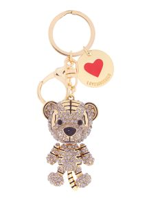Love Moschino Metallic tiger keyring