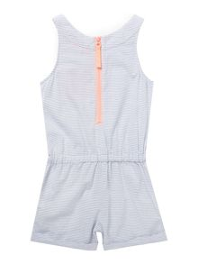 Joules Girls Stripe playsuit with contrast pocket
