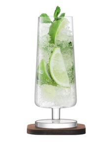 LSA City Bar clear mixer glass 350ml set of 2