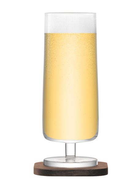 LSA City Bar clear lager glass 450ml set of 2