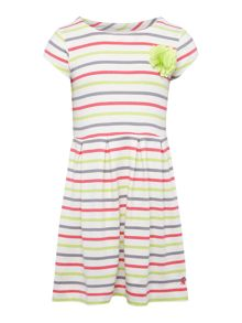 Joules Girls Floral print short sleeved frill hem dress