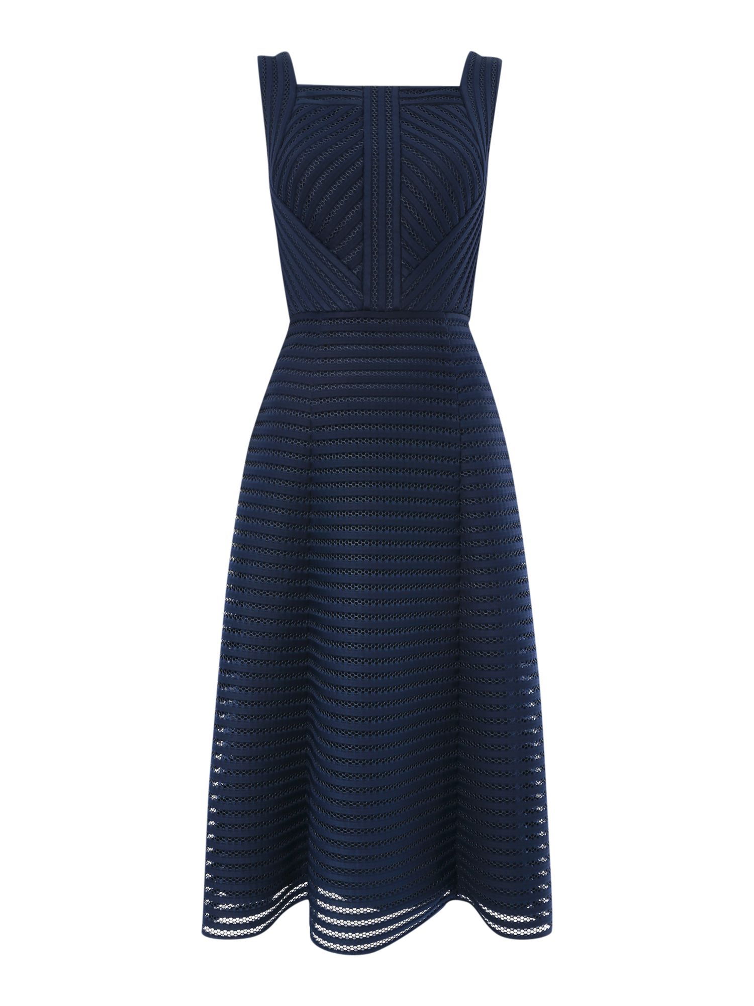 Untold Fit and flare mesh dress