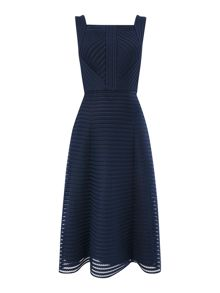 Fit and flare mesh dress