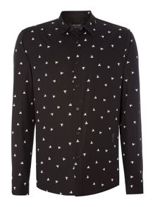 Regular Fit All Over Fly Print Shirt