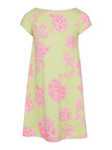 Joules Girls Floral print short sleeved jersey dress