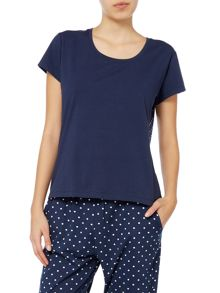 Dickins & Jones Contrast Spot Back Tee