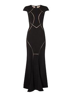 Mesh cut out gown