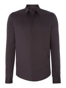 Regular Fit Hidden Placket Shirt