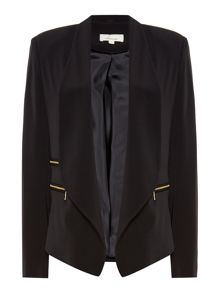 Linea Sarah zip detail soft tailored jacket