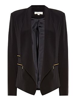 Sarah zip detail soft tailored jacket