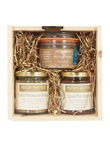 Pork, Plum Chutney and Mustard Mini Crate Set