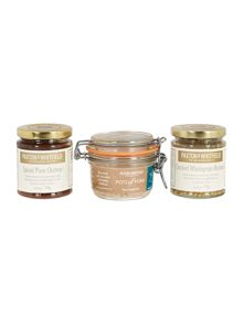 Paxton & Whitfield Pork, Plum Chutney and Mustard Mini Crate Set