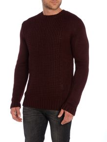Textured Panel Knitted Jumper