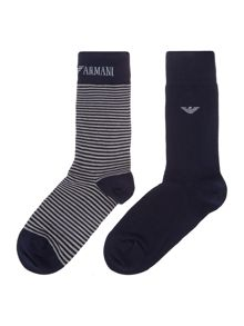 2 Pack Stripe Eagle Sock